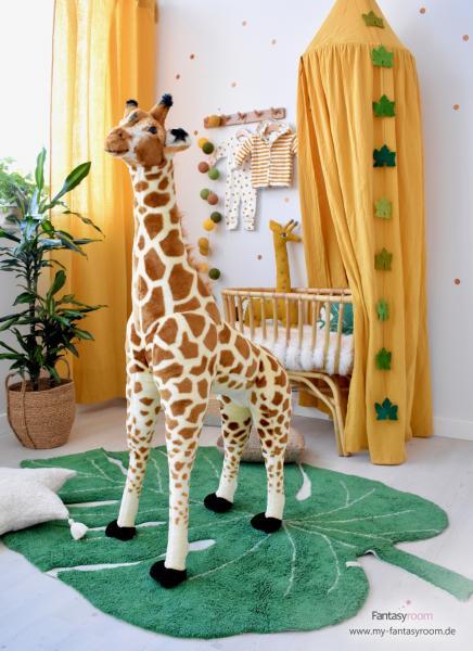 Stehene Giraffe Stofftier - 50x40x135 cm - Braun Gelb