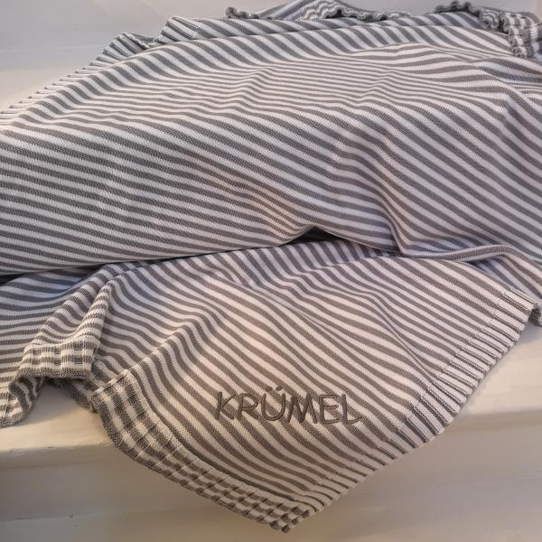 Babydecke Ringelstreifen aus 100% Baumwolle (Bio)