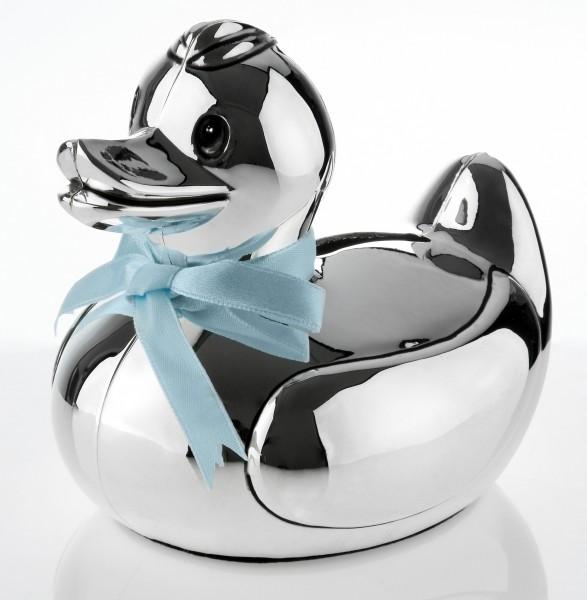 Spardose ENTE Silber