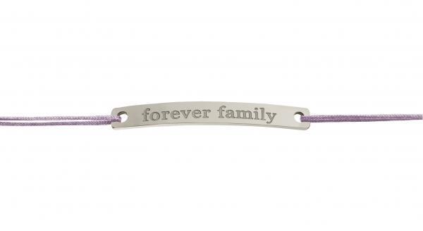 Sprucharmband: forever family