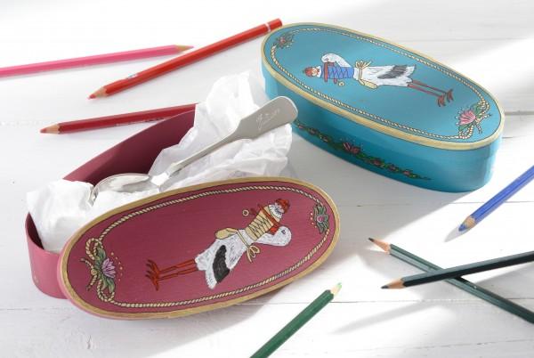 Geschenkschatulle - handbemalt in 2 Farben