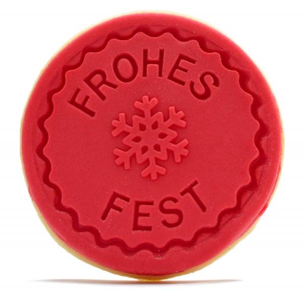 "Keksbotschaft ""Frohes Fest"""