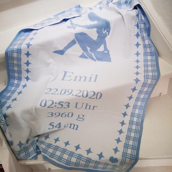 Babydecke STERNZEICHEN - 100% Baumwolle (Bio)